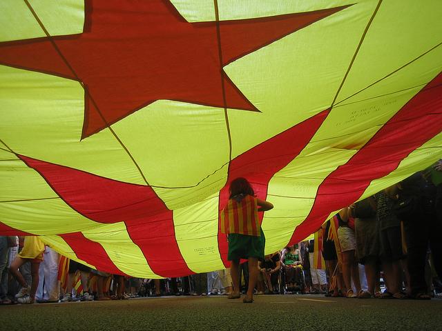 Manifestació de la Diada de l'Onze de Setembre que impulsa el moviment sobiranista / LAUREÀ
