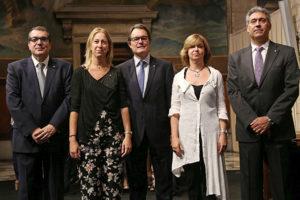 Fotografia del president amb els nous consellers. Foto: Gencat.cat