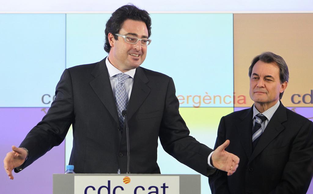 David Madí en la roda de premsa en què s'acomiadà de la política activa. Foto: CDC