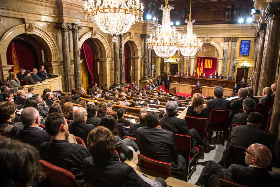 Hemicicle del Parlament de Catalunya, vist des de la tribuna de convidats / JORDI BORRÀS