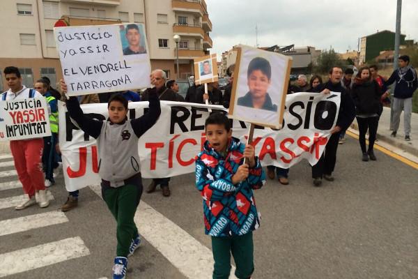 Manifestació reclamant justícia per la mort de Yassir / XARXA PENEDÉS