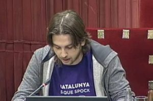 Joan Giner, diputat de Catalunya Sí Que Es Pot, al Parlament / TV3