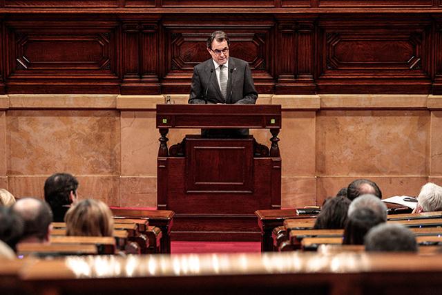 Artur Mas, en un debat d'investidura. Foto: Parlament.cat