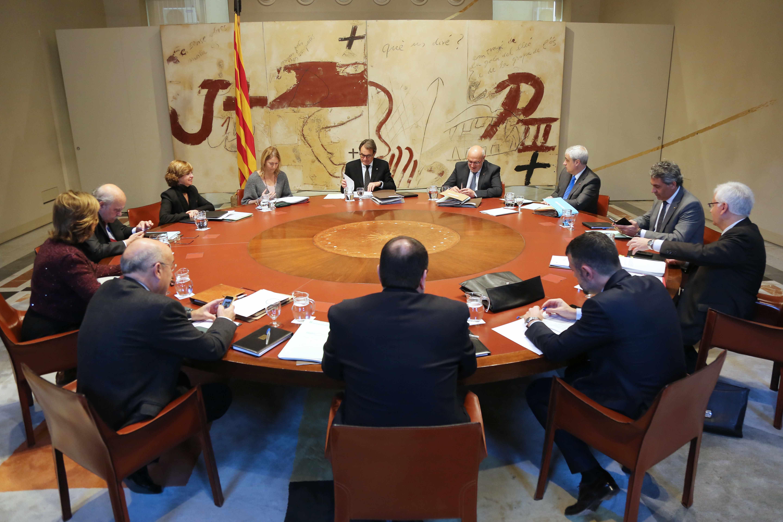 Reunió de l'últim Consell de govern d'Artur Mas al Palau de la Generalitat / RUBÉN MORENO