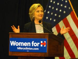 La precandidata demòcrata Hillary Clinton, en un acte als Estats Units / WPOLITICS