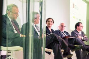 Colau, amb altres responsables del MWC / AJUNTAMENT DE BARCELONA
