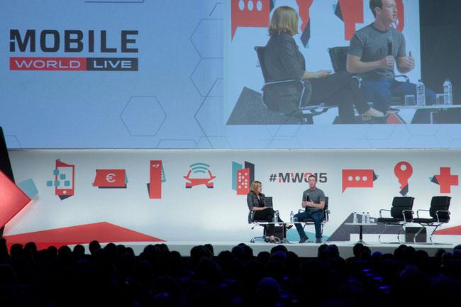 El president i fundador de Facebook, Mark Zuckerberg, al MWC de l'any passat / Foto: MWC