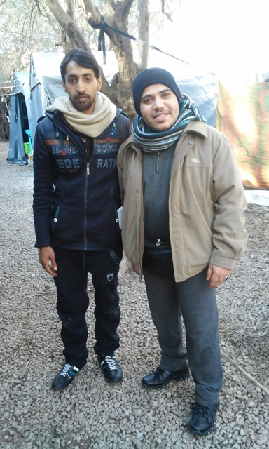Ahmad i Dharee, dos refugiats arribats aquest mes de febrer a Lesbos / / LAIA ALTARRIBA