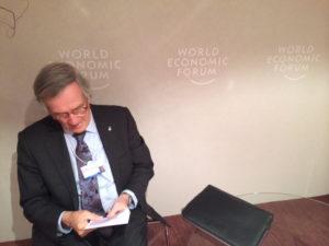 Xavier Trias al Fòrum de Davos. Foto: Ajuntament de Barcelona