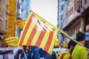 Manifestació independentista a València. Foto: Mel de Romer