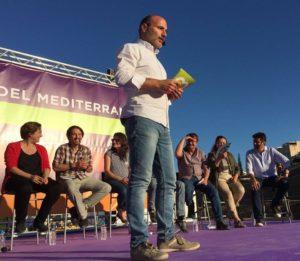 Antoni Verger (MÉS), en un acte d'Units Podem Més / MÉS PER MALLORCA