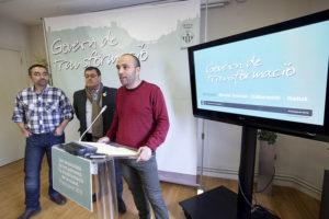 Els regidors Gabriel Fernández, Joan Berlanga i Ramon Vidal / AJUNTAMENT DE SABADELL