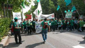 Una acció de la PAH de Sabadell / Afectades HIpoteca Sabadell