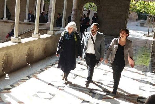 Dolors Sabater visita l'ajuntament de Barcelona / GUANYEM BADALONA