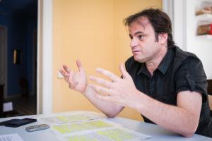 Jaume Asens, al seu despatx / JORDI BORRÀS
