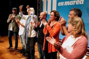 Acte d'En Marea, a Vigo, amb Beiras, Luis Villares i Ada Colau / EN MAREA