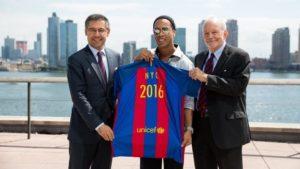 Renovació de l'acord entre la Fundació i UNICEF / FC BARCELONA