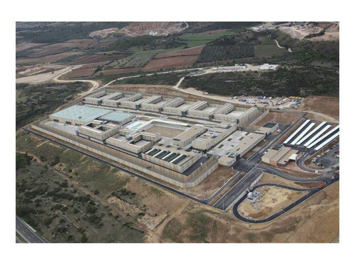 Vista aèria de la presó de Puig de les Basses de Figueres, un dret de superfície adjudicat a Ferrovial. Foto: Gencat.cat