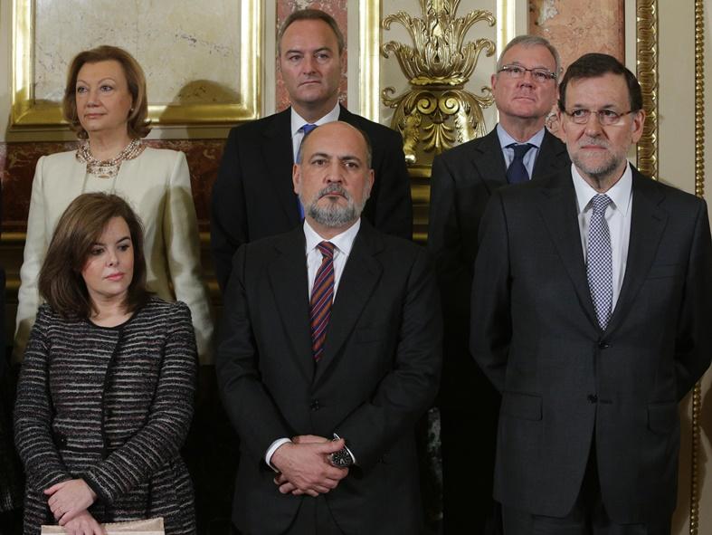 Pérez de los Cobos en un acte amb membres del PP el 2013 / TC