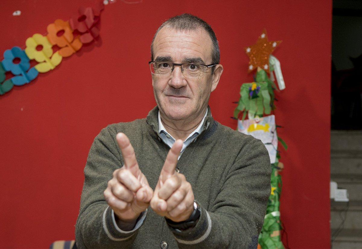 Juan Pedro Yllanes, en una acció a favor de la campanya d'Errejón / JP YLLANES