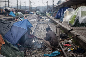 Refugiats en tendes de campanya a Idomeni (Grècia) / XAVI HERRERO