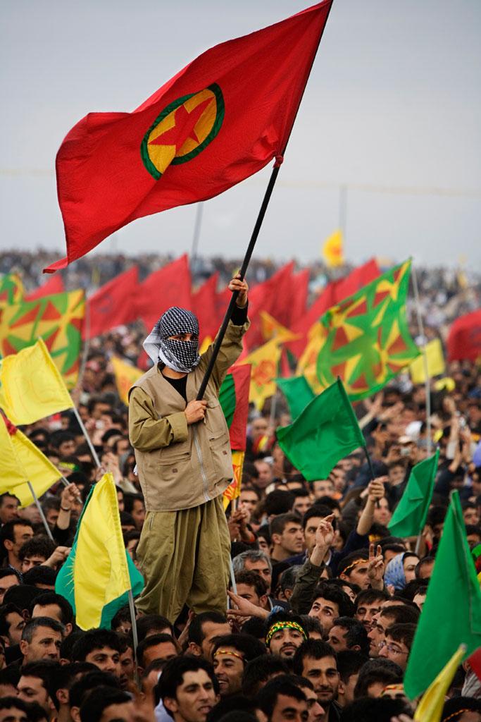 Una manifestació de l'HDP, el partit prokurd al Parlament / ORIOL CLAVERA