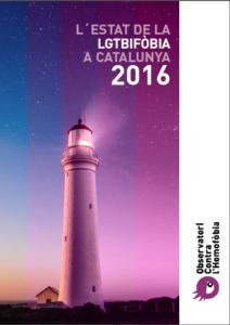 Portada de l'informe de 'L'estat de la LGTBIfòbia a Catalunya' / OBSERVATORI CONTRA L'HOMOFÒBIA