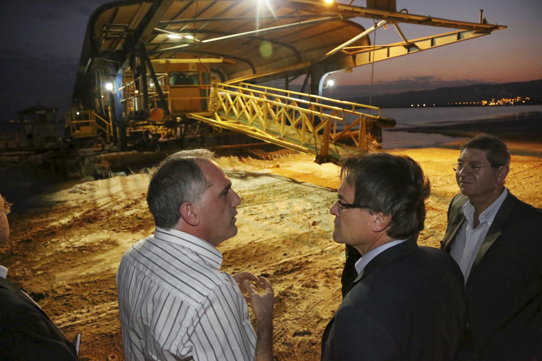 Visita d'Artur Mas a l'empresa Dead Sea Works, matriu de la catalana Iberpotash, al 2013 / GOVERN