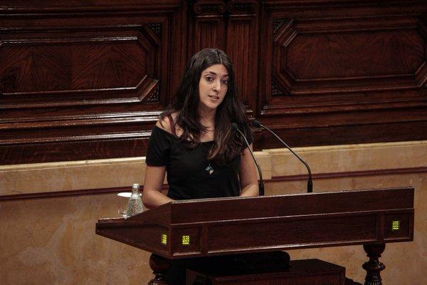 Irene Escorihuela defensant la ILP de l'Habitatge a l'hemicicle parlamentari / PARLAMENT