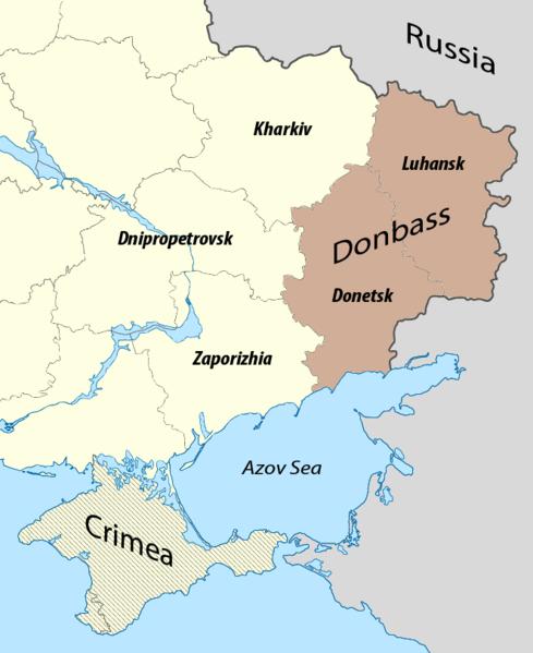 Mapa de la zona de Donbass / WIKIPEDIA