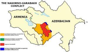 Mapa de la guerra del Nagorno-Karabakh / WIKIPEDIA