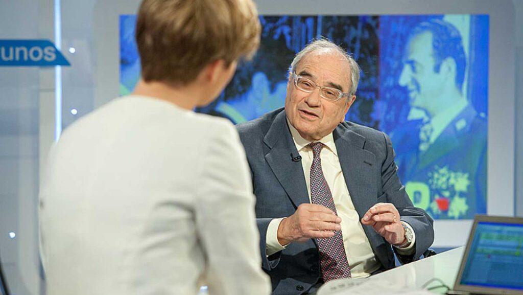 Martín Villa en una entrevista a Televisió Espanyola / Foto: RTVE.