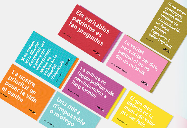 Pack de 8 postals de pensament crític
