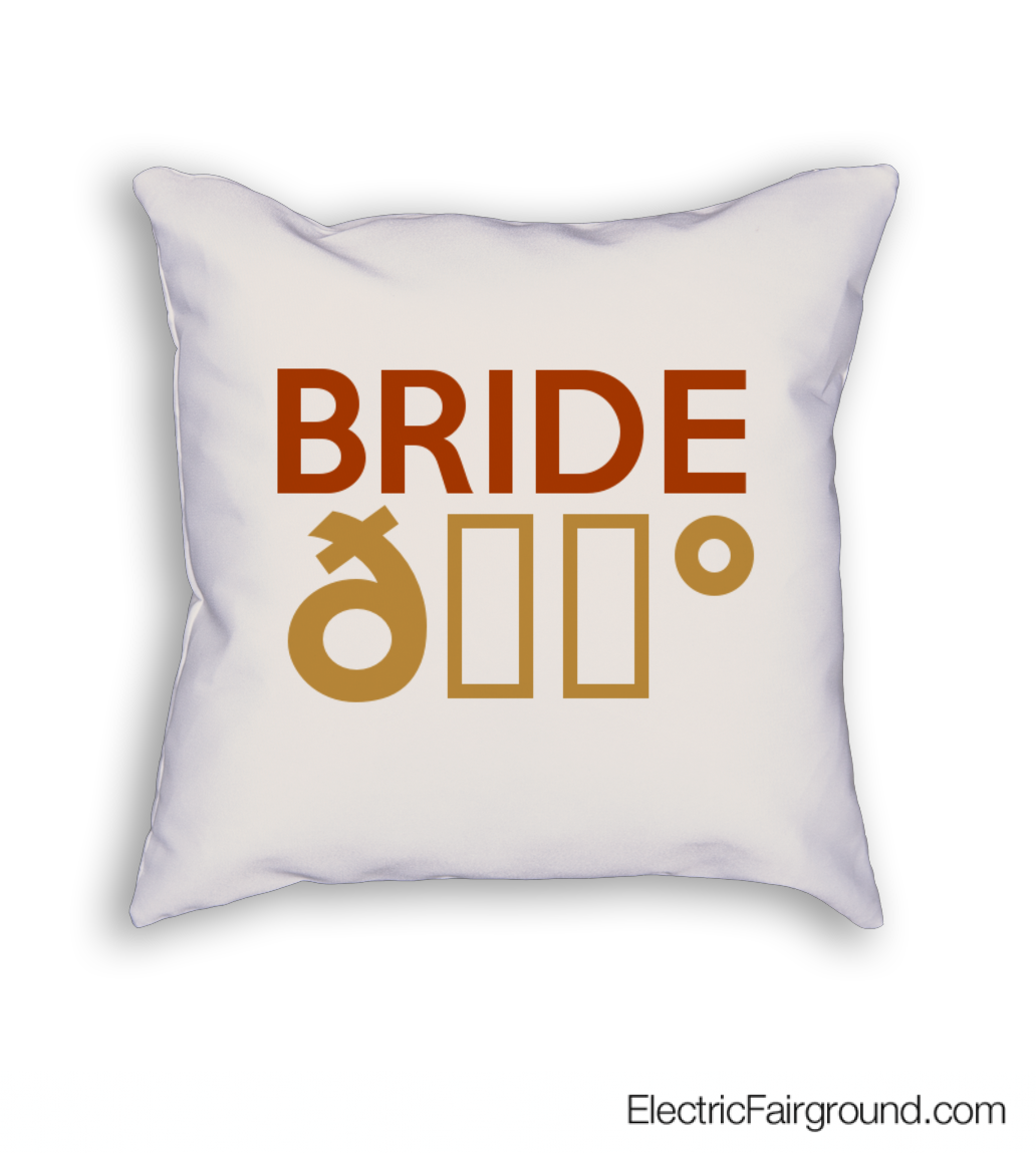 BRIDE 👰  Cushion