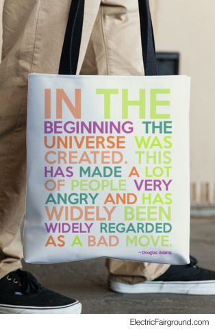 Douglas Adams Tote Bag