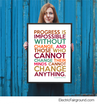 George Bernard Shaw Framed Poster