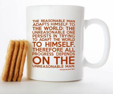 George Bernard Shaw White Mug