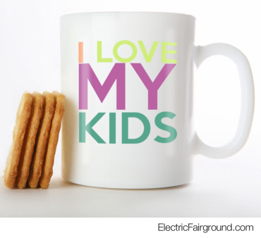 I LOVE MY KIDS White Mug