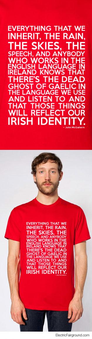 John McGahern Short Sleeve T-Shirt