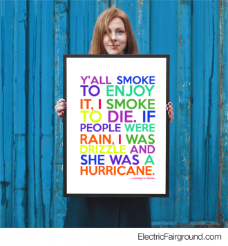 Looking for Alaska Framed Poster