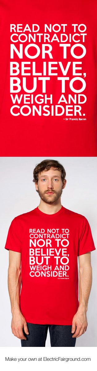 Sir Francis Bacon Short Sleeve T-Shirt
