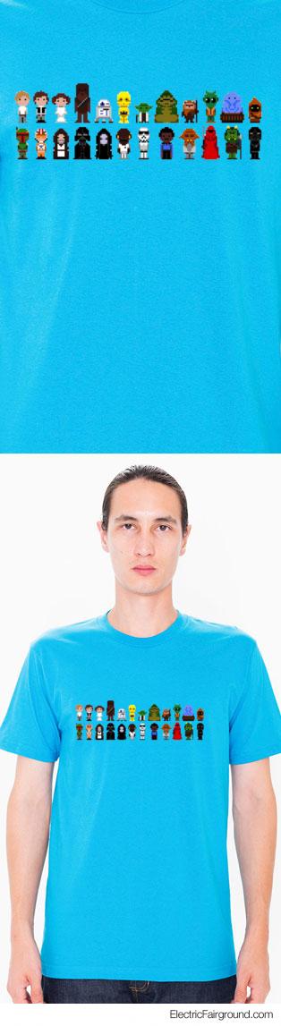 Star Wars 8-bit Short Sleeve T-Shirt
