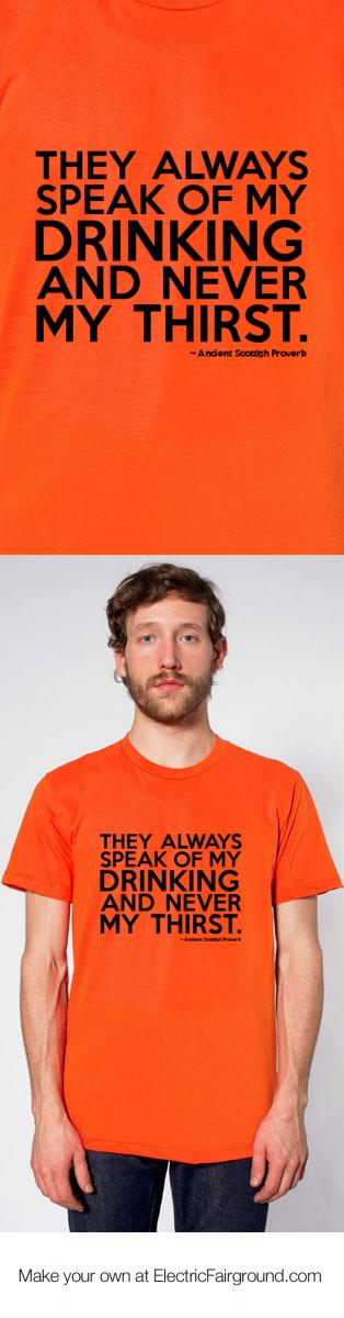 Ancient Scottish Proverb Short Sleeve T-Shirt