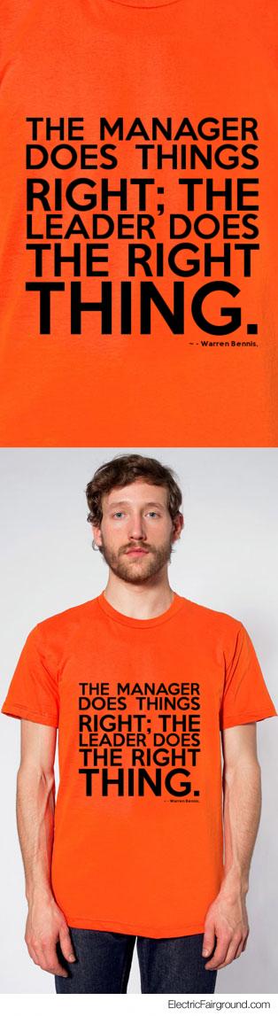 - Warren Bennis, Short Sleeve T-Shirt