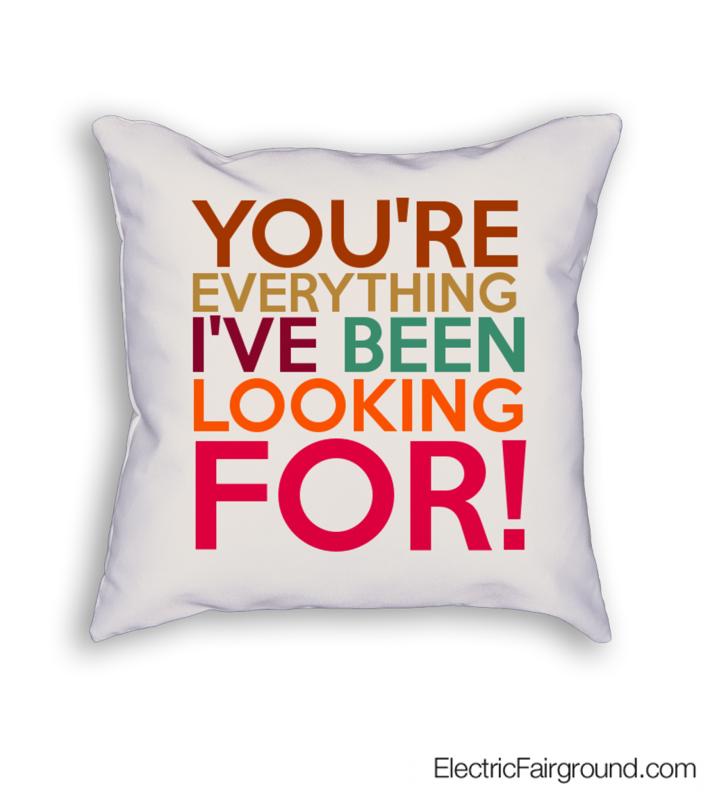 You're everything I've been looking for! Cushion