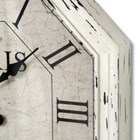 Large French octagonal cream wall clock