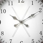 Silver Drum Wall Clock