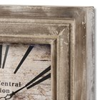 Wooden Square 'Grand Central Station' Clock