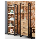 New Industrial Slim Open Bookcase