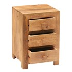 Mango Three Drawer Bedside Cabinet